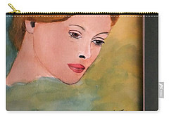 Carry-all Pouch featuring the painting Beth by Donald Paczynski