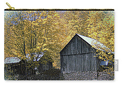 Carry-all Pouch featuring the photograph Bethel Mountain Farm by John Rivera