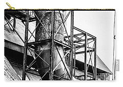 Bethlehem Steel - Black And White Industrial Carry-all Pouch by Bill Cannon