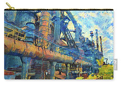 Bethlehem Steel Mill Watercolor Carry-all Pouch by Bill Cannon
