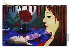 Carry-all Pouch featuring the painting Betrayal by Teresa Wing