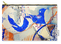 Carry-all Pouch featuring the mixed media Between Branches by Mary Schiros