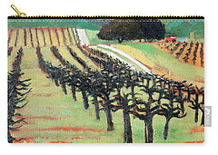 Carry-all Pouch featuring the painting Between Crops by Gary Coleman