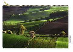 Carry-all Pouch featuring the photograph Between Green Waves by Jenny Rainbow