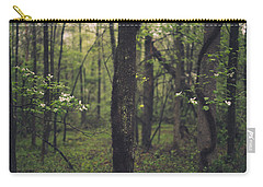 Carry-all Pouch featuring the photograph Between The Dogwoods by Shane Holsclaw