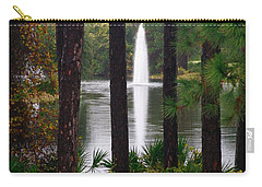 Carry-all Pouch featuring the photograph Between The Fountain by Lori Mellen-Pagliaro