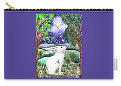 Carry-all Pouch featuring the painting Between The Trees by Lise Winne