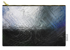 Carry-all Pouch featuring the digital art Between Us, This Melancholy Sea by Wendy J St Christopher