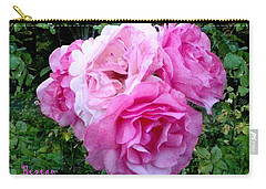 Carry-all Pouch featuring the photograph Bevy Of Roses by Sadie Reneau