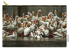Bevy Of White Pelicans Carry-all Pouch