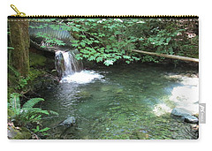 Carry-all Pouch featuring the photograph Beyond The End Of The Trail At Limpy Creek by Marie Neder