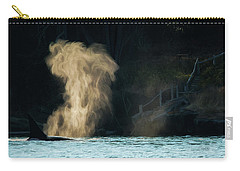 Carry-all Pouch featuring the photograph Beyond The Mist - Wildlife Art by Jordan Blackstone
