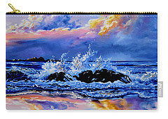 Carry-all Pouch featuring the painting Beyond The Rocks by Hanne Lore Koehler