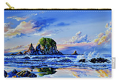 Carry-all Pouch featuring the painting Beyond The Shore by Hanne Lore Koehler