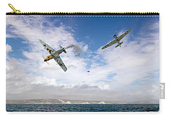 Carry-all Pouch featuring the photograph Bf109 Down In The Channel by Gary Eason