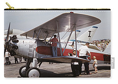 Carry-all Pouch featuring the photograph Bi-wing-3 by Donald Paczynski