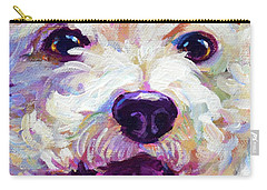 Bichon Frise Face Carry-all Pouch