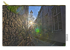 Carry-all Pouch featuring the photograph Bicycle Alley by Frans Blok
