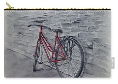 Bicycle In Red Carry-all Pouch
