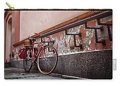 Bicycle On A Quiet Street In Warsaw Poland  Carry-all Pouch