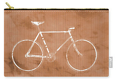 Bicycle On Tile Carry-all Pouch by Dan Sproul