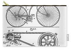 Bicycle Patent 1890 Carry-all Pouch by Bill Cannon