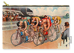 Bicycle Race 1895 Carry-all Pouch by Padre Art