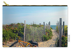 Carry-all Pouch featuring the photograph Bicycle Rest by Madeline Ellis