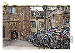 Bicycles At Trinity College Cambridge Carry-all Pouch by Gill Billington