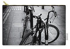 Bicycles In A London Street Carry-all Pouch by Lynn Bolt