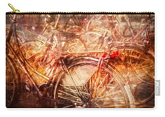 Carry-all Pouch featuring the digital art Bicycles In Amsterdam by Richard Anderson