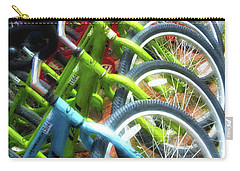 Carry-all Pouch featuring the photograph Bicycles On Florida County Road 30-a by Mel Steinhauer