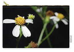 Carry-all Pouch featuring the photograph Bidens Alba by Richard Rizzo