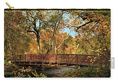 Carry-all Pouch featuring the photograph Bidwell Park Bridge In Chico by James Eddy