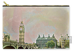 Big Ben Against A Watercolor Sky Carry-all Pouch