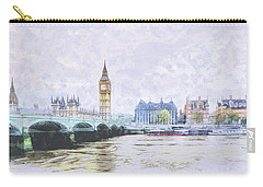Big Ben And Westminster Bridge London England Carry-all Pouch
