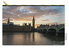 Big Ben London Sunset Carry-all Pouch by Mike Reid
