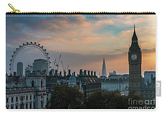 Big Ben Shard And London Eye Sunrise Carry-all Pouch by Mike Reid