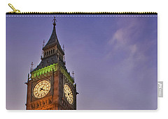 Carry-all Pouch featuring the photograph Big Ben Twilight In London by Terri Waters