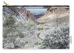 Big Bend Window With Snow Carry-all Pouch