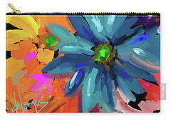 Big Blue Flower Carry-all Pouch by DC Langer