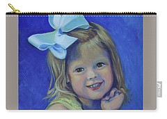 Big Bow Little Girl Carry-all Pouch
