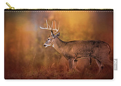 Big Buck In Autumn White Tailed Deer Art Carry-all Pouch by Jai Johnson