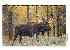 Carry-all Pouch featuring the photograph Big Bull Washakie by Yeates Photography