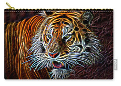 Carry-all Pouch featuring the digital art Big Cat by Aaron Berg