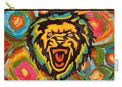 Big Cat Abstract Carry-all Pouch by Gerhardt Isringhaus