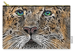 Carry-all Pouch featuring the digital art Big Cat by Darren Cannell