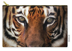 Big Cat Stare Down Carry-all Pouch