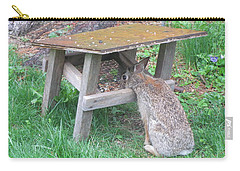 Big Eyed Rabbit Eating Birdseed Carry-all Pouch