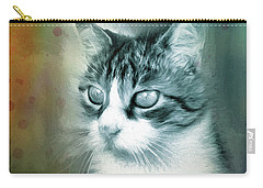 Carry-all Pouch featuring the digital art Big Eyes by Jutta Maria Pusl